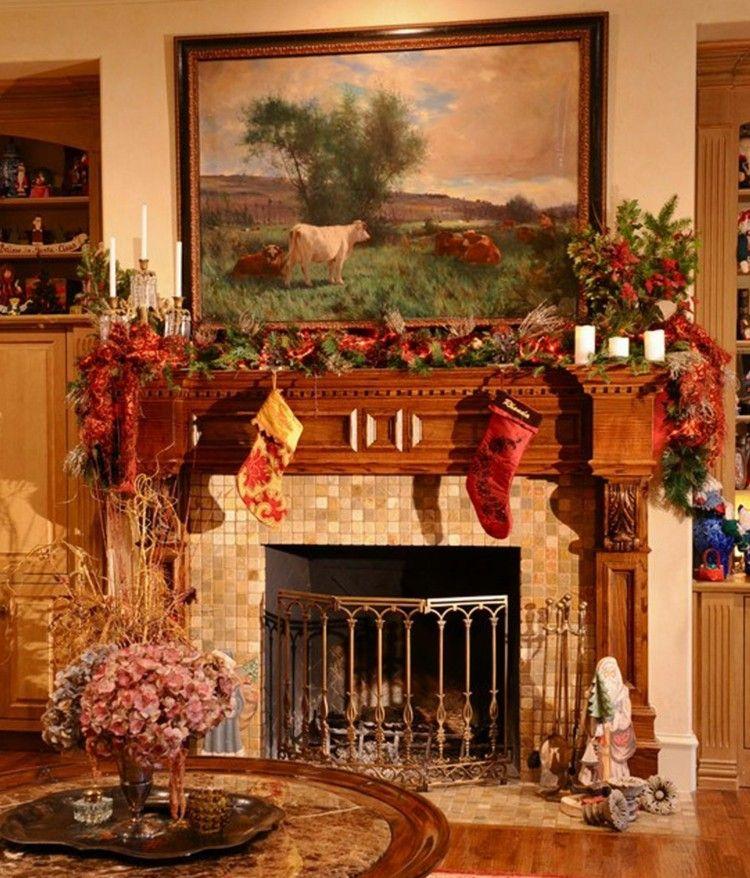 Motivos navideños para decorar la chimenea - más de 50 ideas