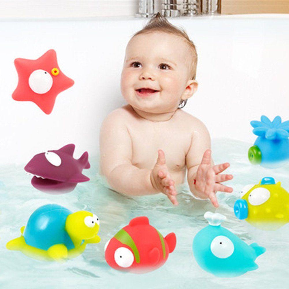 Bath toys chickwin squirts bath toys organizer set spray