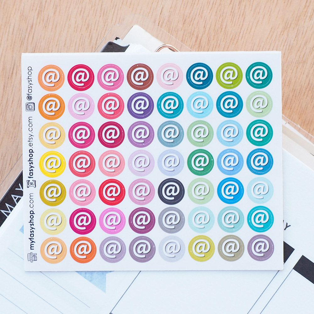 56 appointment tiny icons sticker planner by
