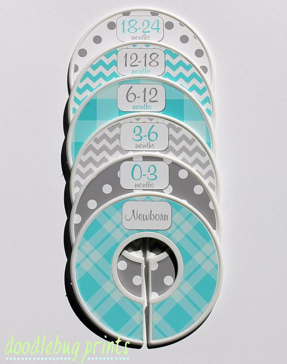 Captivating Baby Closet Dividers   Baby Clothing Dividers Turquoise And Gray Nursery Closet  Dividers Clothing Size Dividers   Assembled