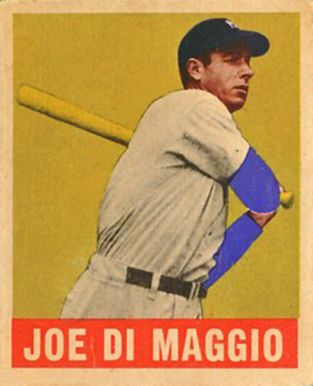 Joe Dimaggio Baseball Cards 1948 Leaf Joe Dimaggio 1