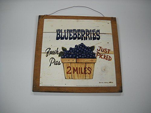 Just Picked Blueberries Wooden Kitchen Wall Art Sign Fruit Decor * The  Little Store Of Home