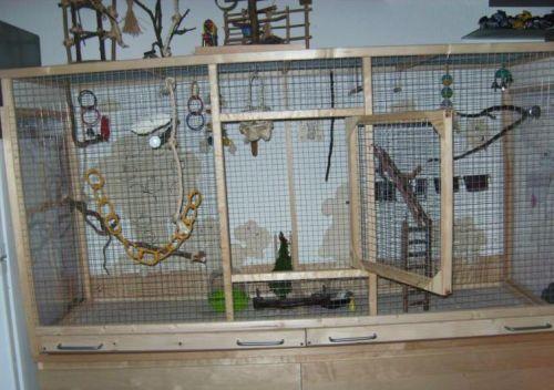 diy voliere diy aviary vogis pinterest wellensittich k fig vogelk fig wellensittich und. Black Bedroom Furniture Sets. Home Design Ideas