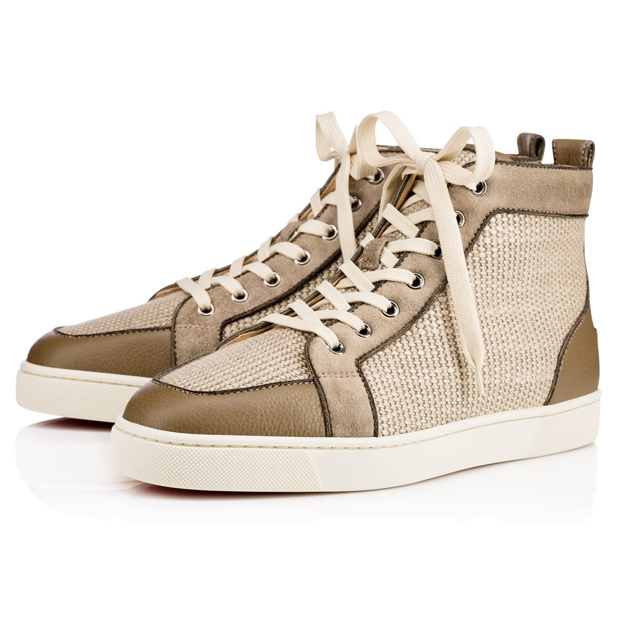 f3ac2f576f7 CHRISTIAN LOUBOUTIN RANTUS ORLATO CALF GRAINE LIN TRESSE Poivre Vert Linen  - Men Shoes - Christian Louboutin.  christianlouboutin  shoes