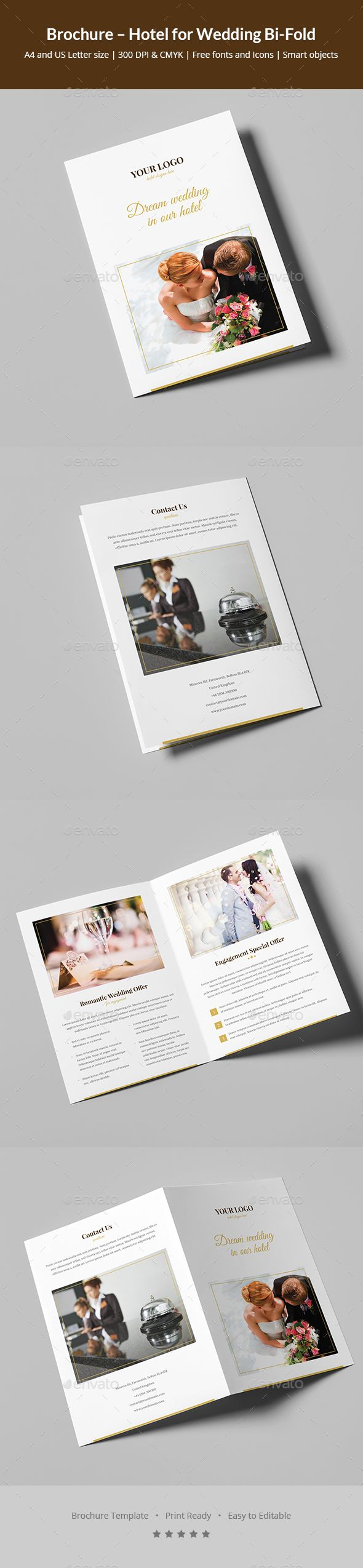 Brochure – Hotel For Wedding Bifold — Photoshop Psd #flower #hotel •  Available Here