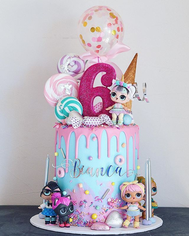 "Sweet Boutique - Custom Cakes on Instagram: ""Bianca's LOL Surprise! birthday cake � The original design credit goes to an image I found on Pinterest (I'm not sure who made it) ��‍️�"""