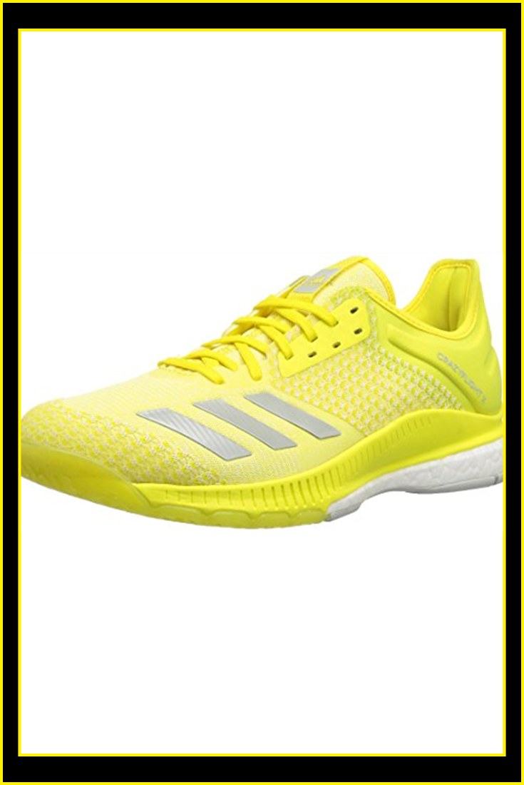 Adidas Women S Crazyflight X 2 Volleyball Shoe Shock Yellow Ash Silver White 6 M Us Yellow Adidas Women Volleyball Shoes Adidas