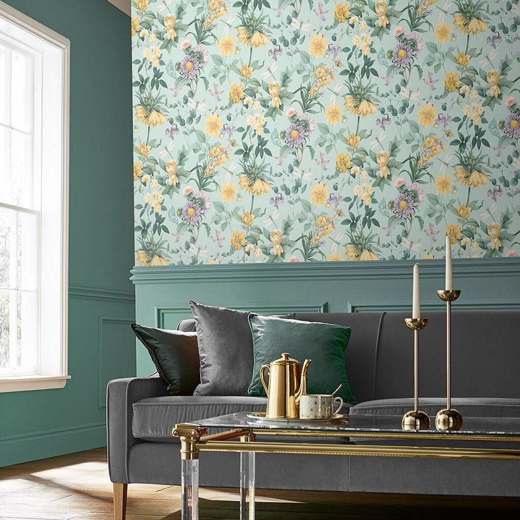 Flourish Duck Egg Wallpaper Latest Wallpaper Designs Wallp