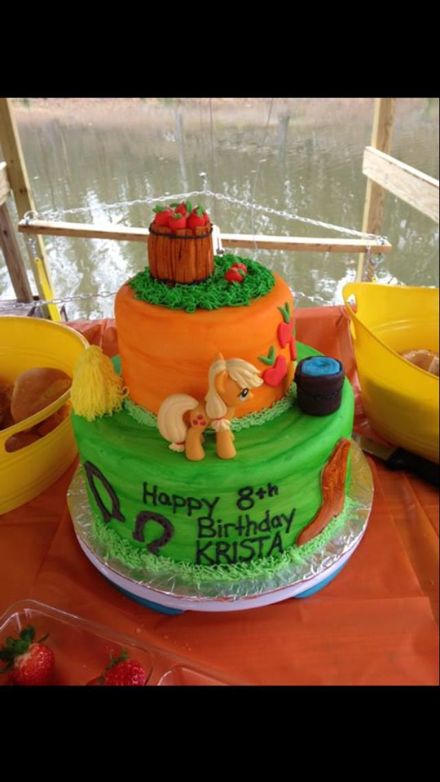 Applejack Cake Lily S 11th Birthday Caking Pinterest