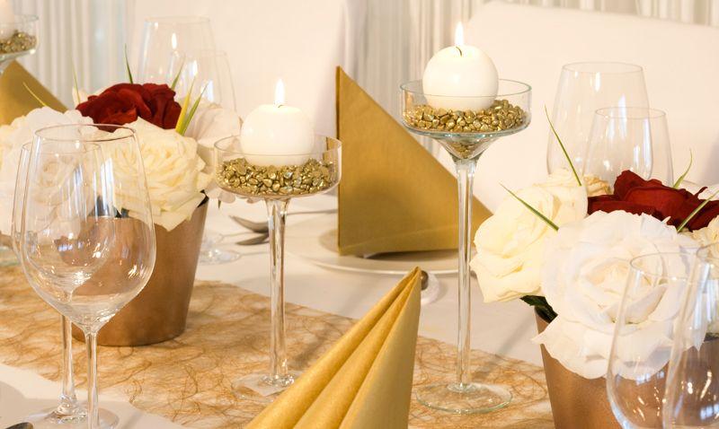 Servietten In Gold Tischdekoration Gold Weiss Meine