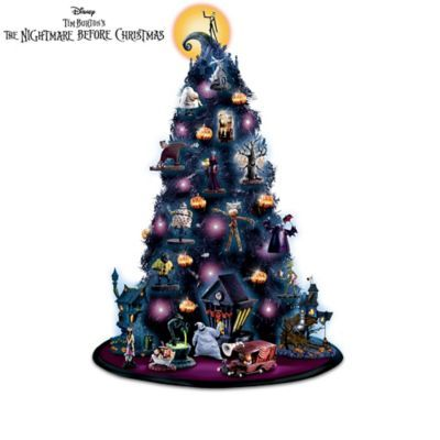 The Nightmare Before Christmas Tabletop Tree Collection Nightmare Before Christmas Tree Nightmare Before Christmas Musical Halloween Tabletop