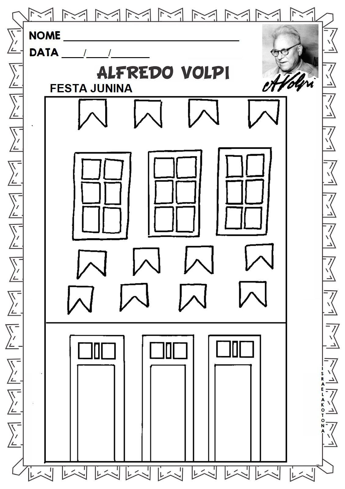 Educacao Infantil Facil Obras Para Colorir Alfredo Volpi Volpi