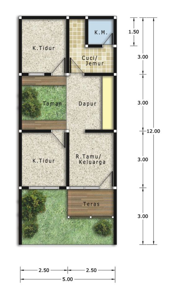 Denah Rumah Minimalis Tipe 21 House Renovation Plans Small House Design Minimalist House Design