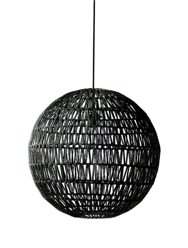 hanglamp gehaakt zwart lampen pinterest hanglamp zwart en