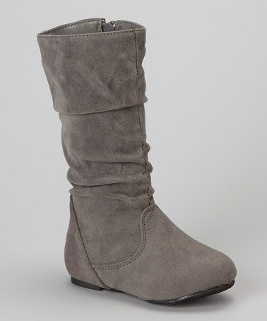 Take a look at this Gray Delta Boot by Ositos Shoes on #zulily today!