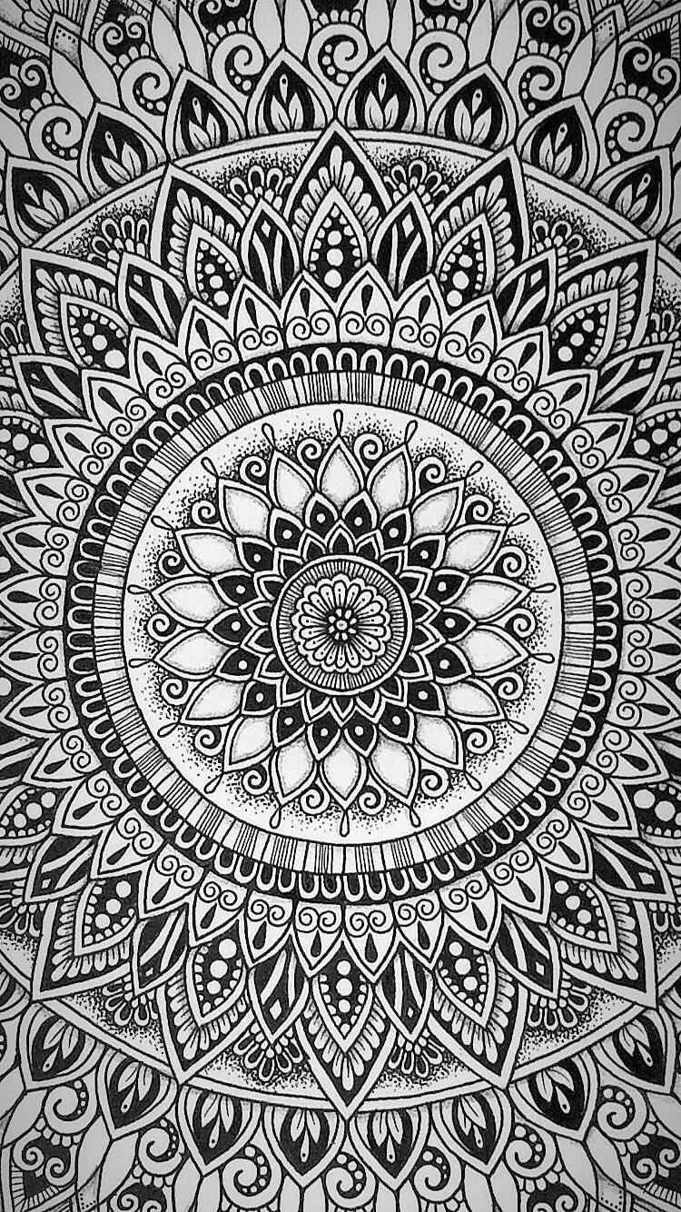Mandala Iphone Wallpaper By Samschroederart Instagram Samschroeds Art Wallpaper Iphone Mandala Wallpaper Mandala Art Lesson