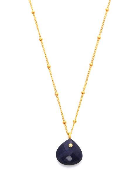 Sacred Jewels - Sapphire Simplicity Rocks Necklace