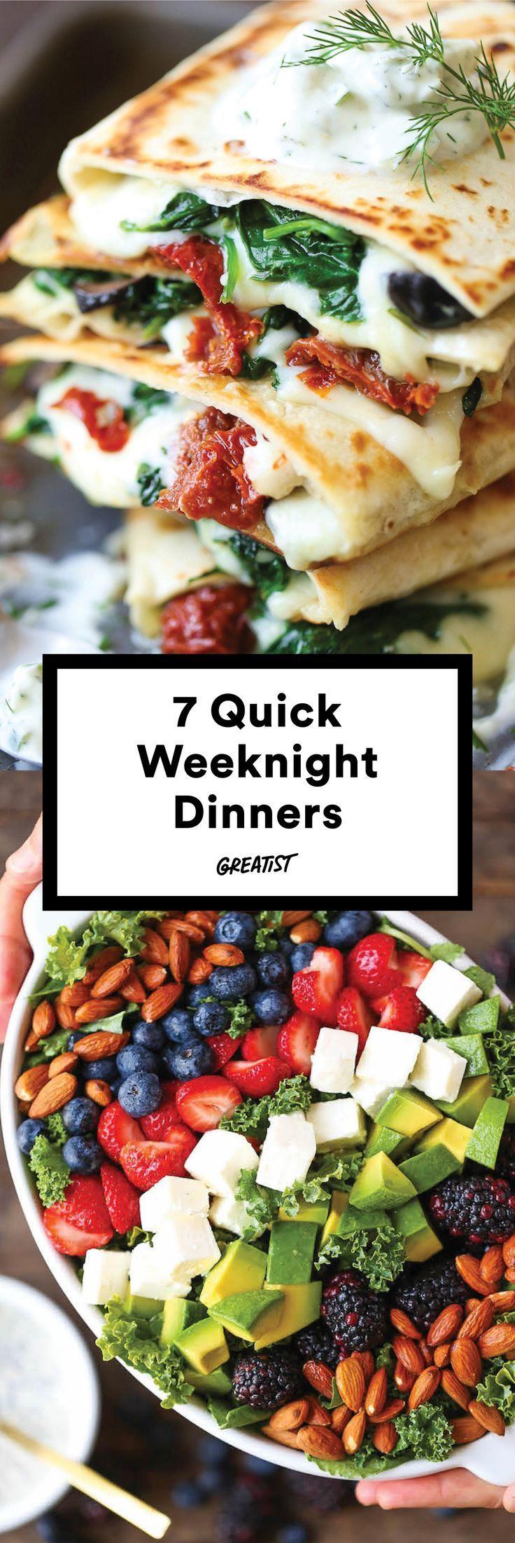 7 Quick-Fix Dinners That Make Weeknight Cooking a Cinch #summerdinnerseasy