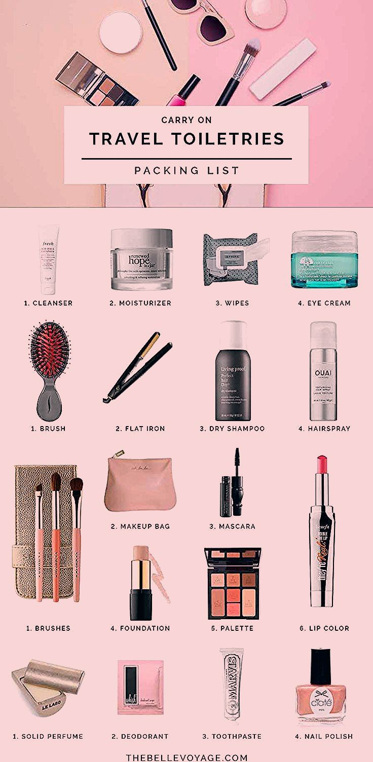 Photo of Travel Toiletries Packing List