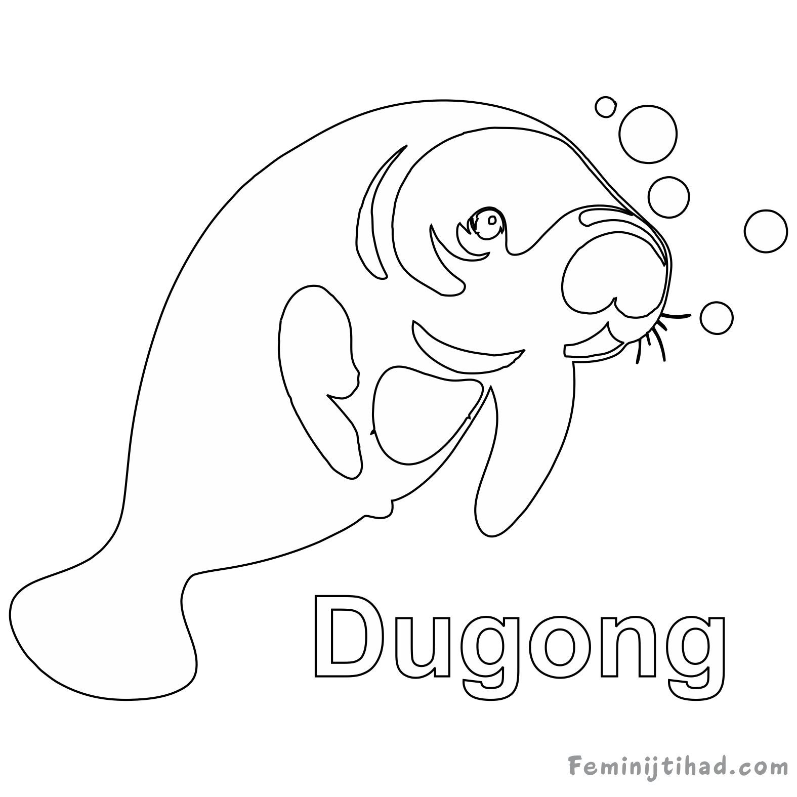 Dugong Coloring Pages Free To Print