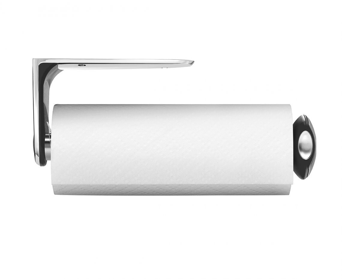 The Simplehuman Wall Mount Paper Towel Holder Helps Free Up Countertop Space By Mounting Horizontally Or Ve Paper Towel Holder Kitchen Paper Towel Towel Holder