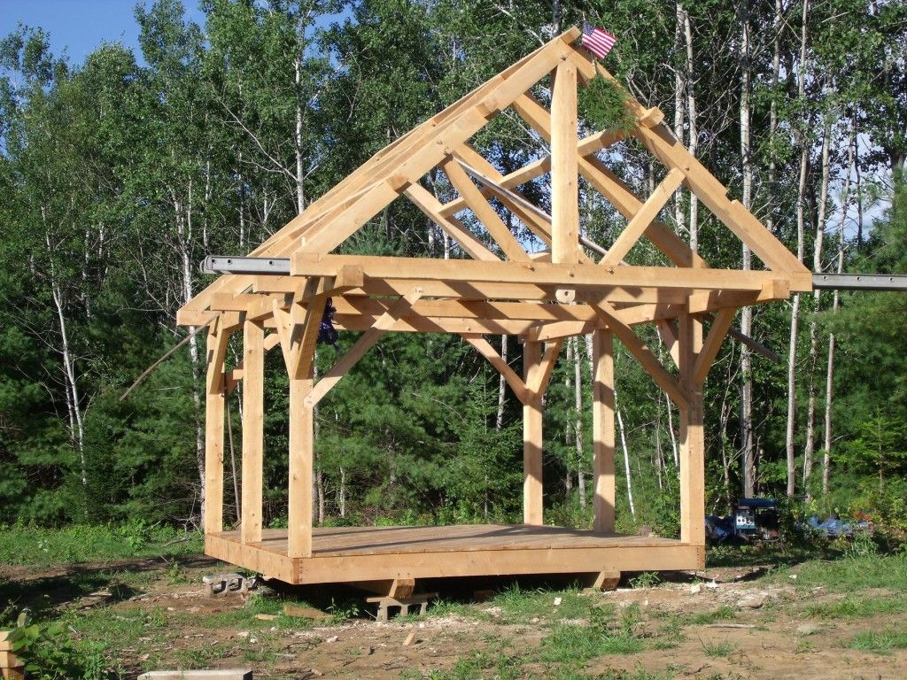 Post And Beam Shed Google Search Backyard Structures Shed