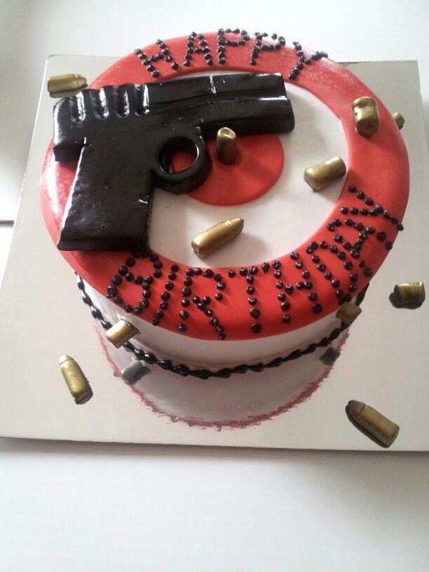 Target And Gun Cake Levonne S Unique Cakes Pinterest