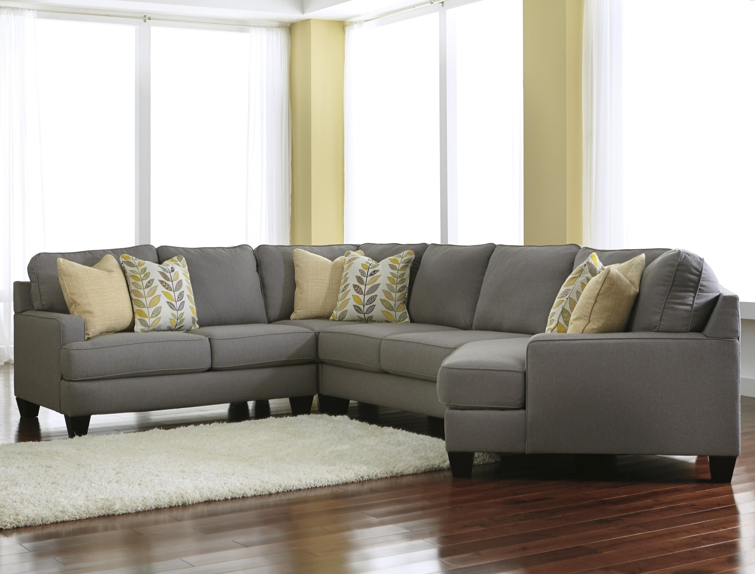 Chamberly Alloy Modern 4 Piece Sectional Sofa With Right