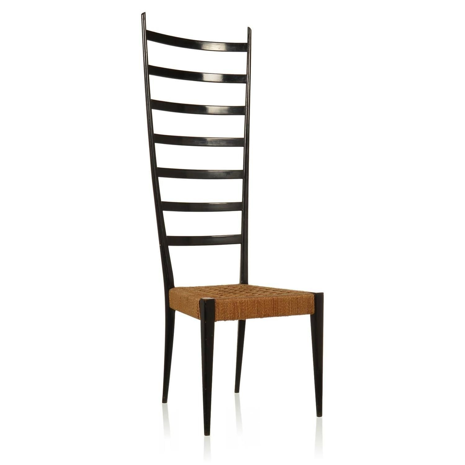 Gio Ponti Style High Ladder Back Chair