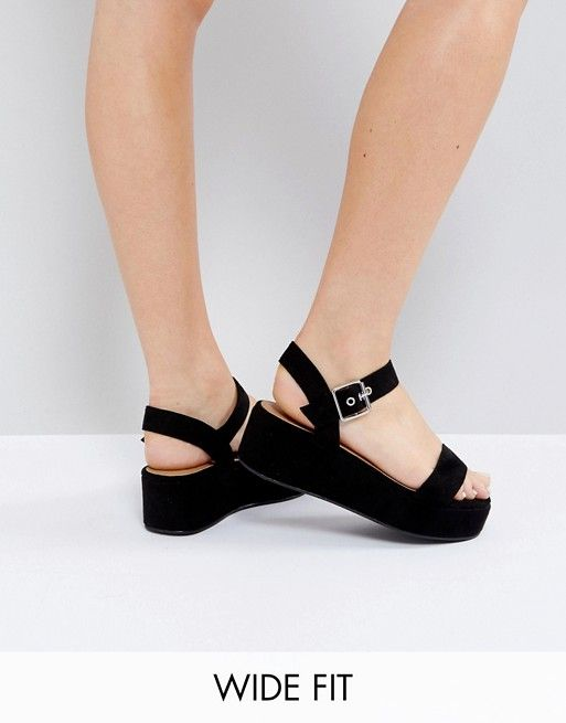b509880a0f3a ASOS TOUCAN Wide Fit Wedge Sandals