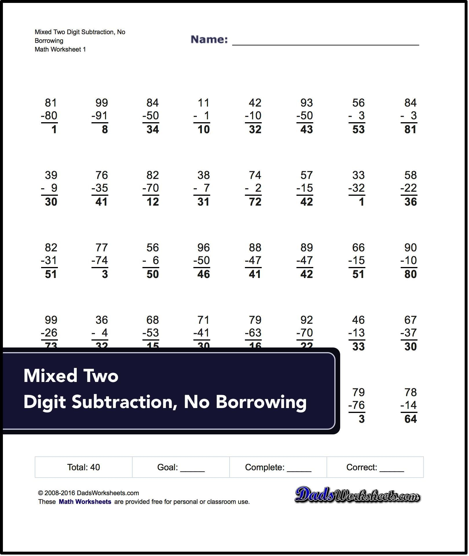 These Multi Digit Subtraction Worksheets Introduce