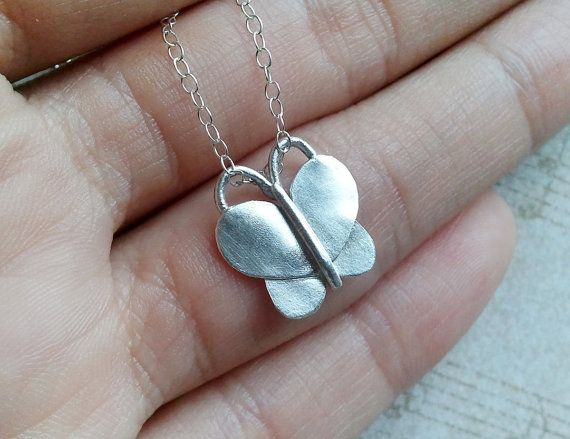 Hey, I found this really awesome Etsy listing at https://www.etsy.com/listing/98838483/silver-butterfly-necklace-fine-silver