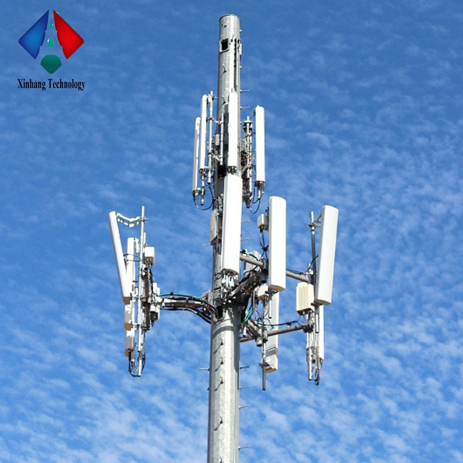 Manufacturer Supplied Steel Monopole Antenna WIFI Tower