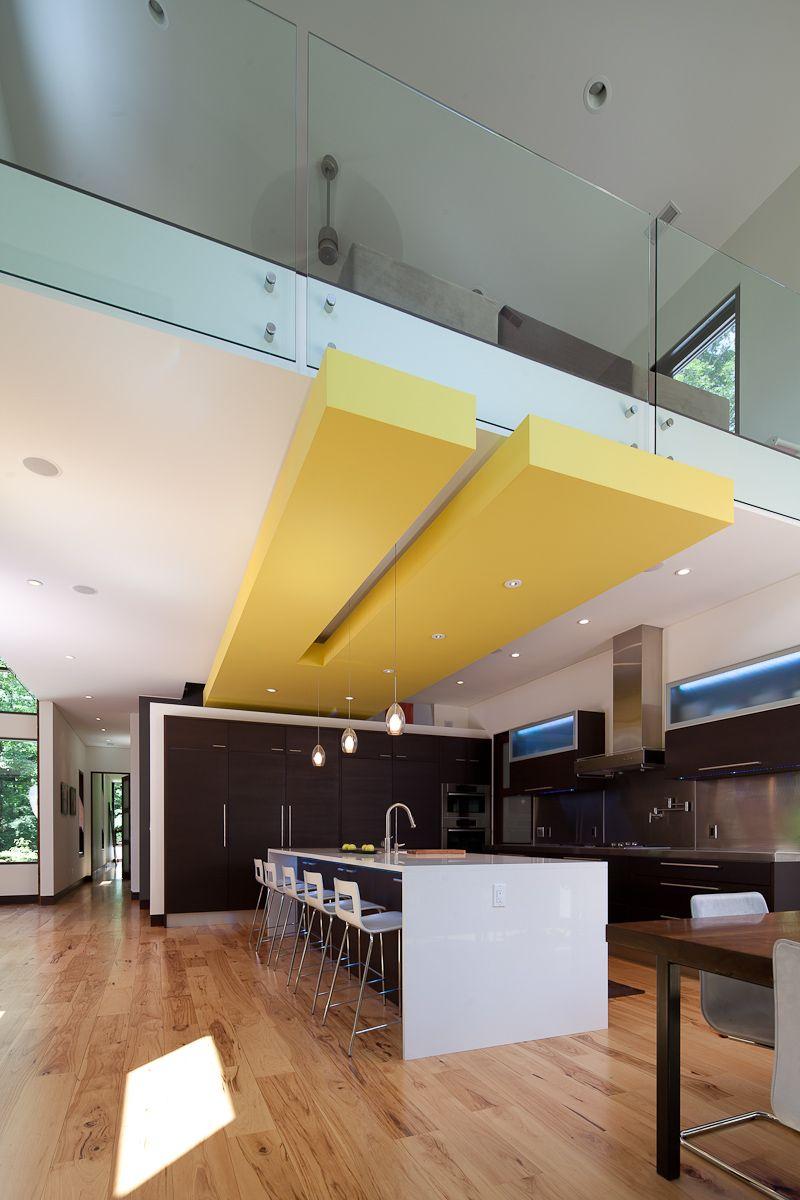 Modern Ceiling Soffit Loft Living Designed By Lucid - Modern kitchen ceiling designs