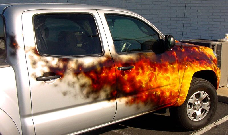 Call The Fire Department My Hubby Would Love This Paint Job Being - Custom vinyl decals for rc carsimages of cars painted with flames true fire flames on rc car