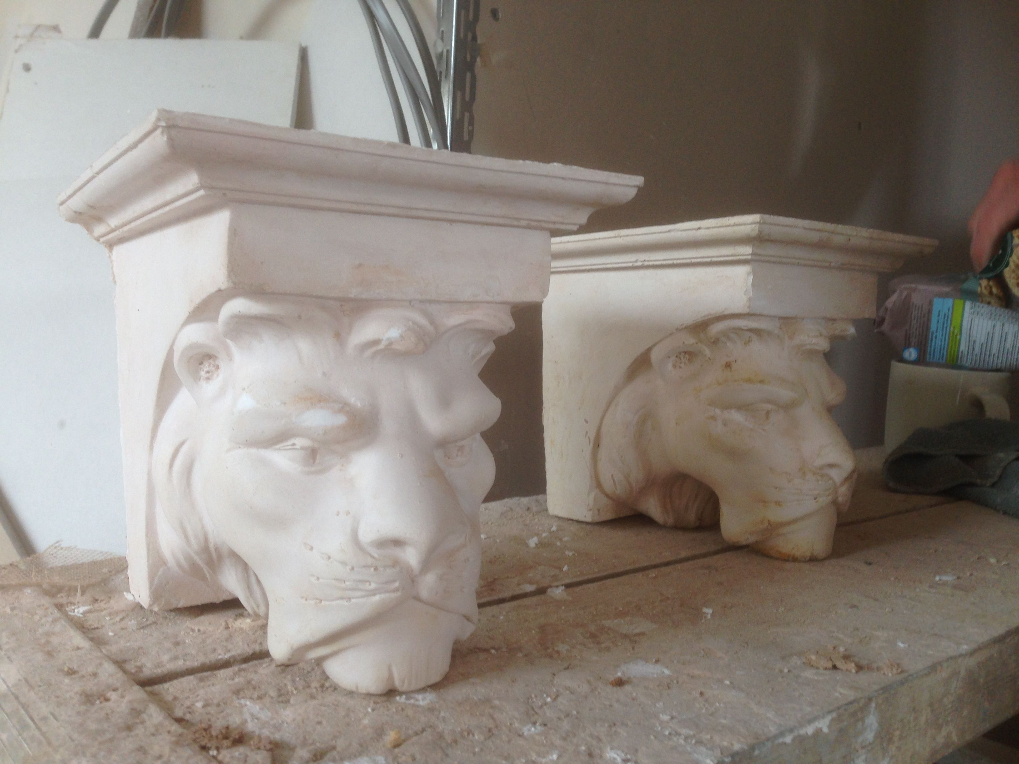 victorian lion corbels plaster of paris craft projects