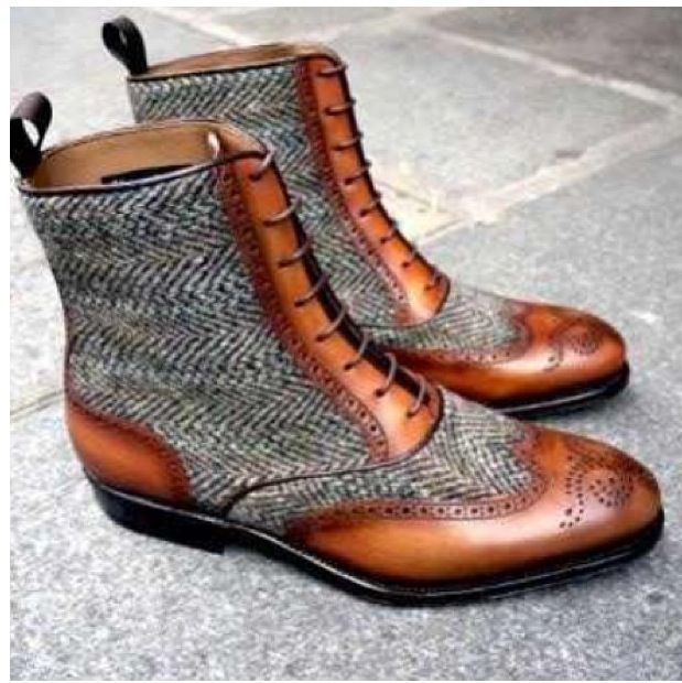 Harris Tweed Leather Boots!