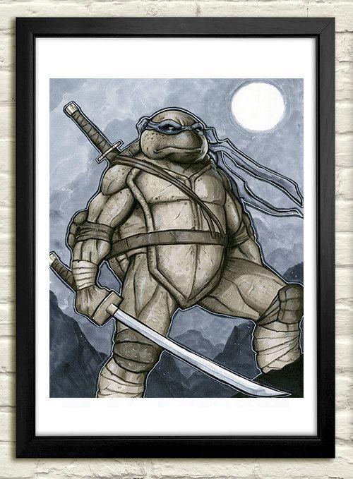 Ninja Turtles: Leonardo  Copic Marker Sketch by PinkHavok on Etsy
