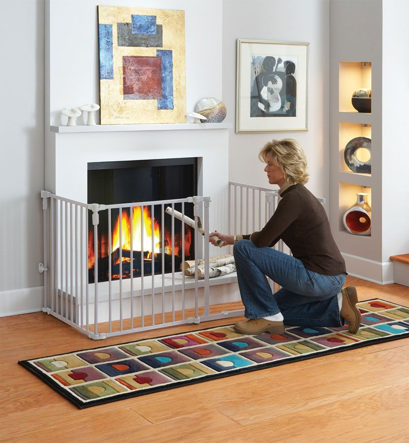 Expandable Metal Fireplace Safety Gate : Baby Safety Gates and Home Safety  Products, Fireplace Safety Gates - Baby Safe Play Room Create A Barricade For Potentially Unsafe