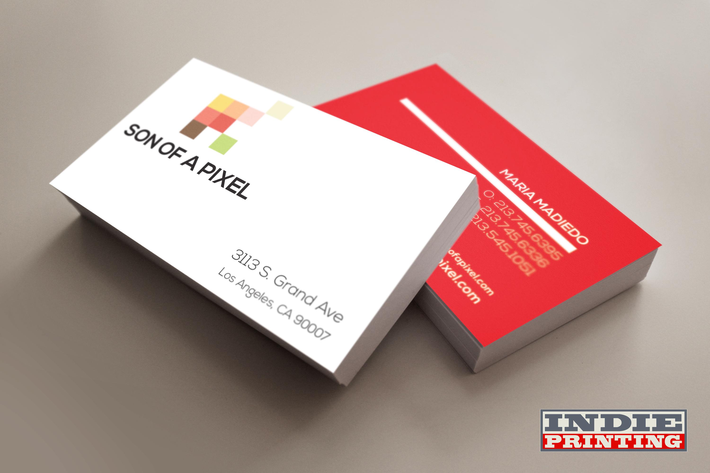 Card Stock Full Color Both Sides Digital Offset Print Matte Finish