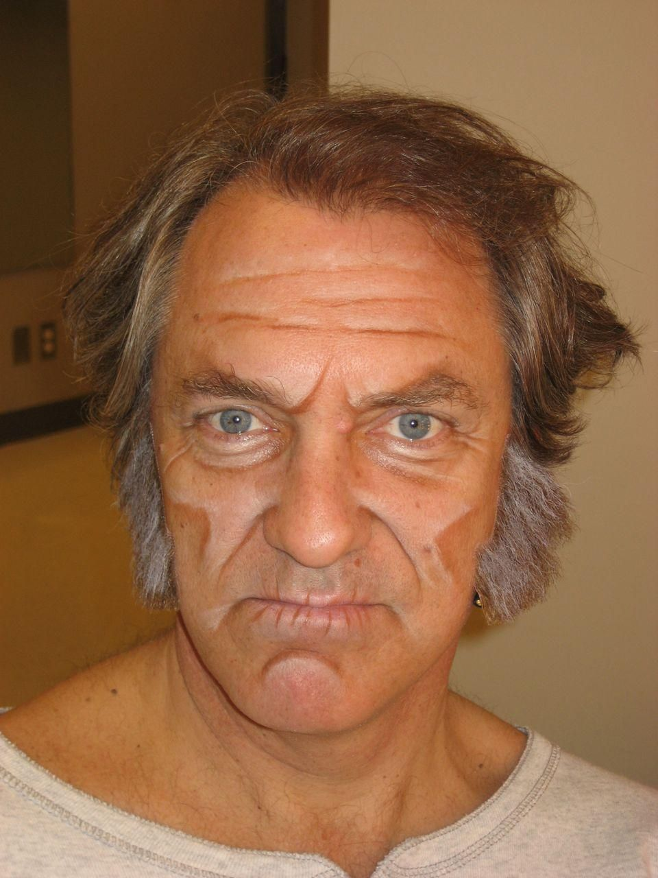 A Christmas Carol makeup theatrical aging for rose