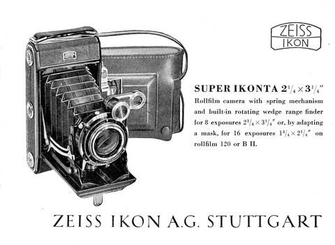 Super Ikonta 21/4 x 3 1/4 Rollfilm camera....Instruction