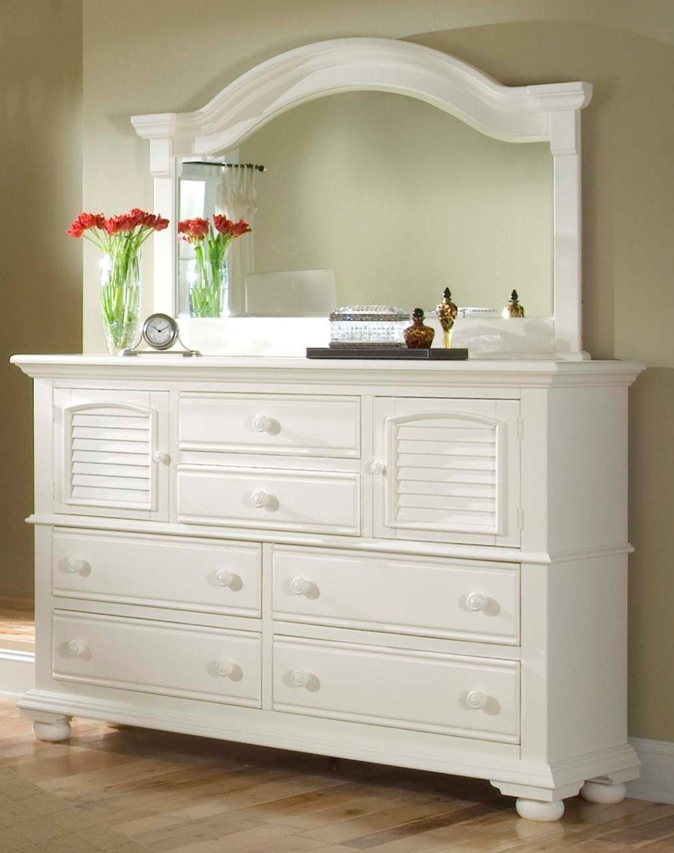 White Bedroom Dresser with Mirror  Bedroom Dressers  Pinterest  Bedroom dressers White