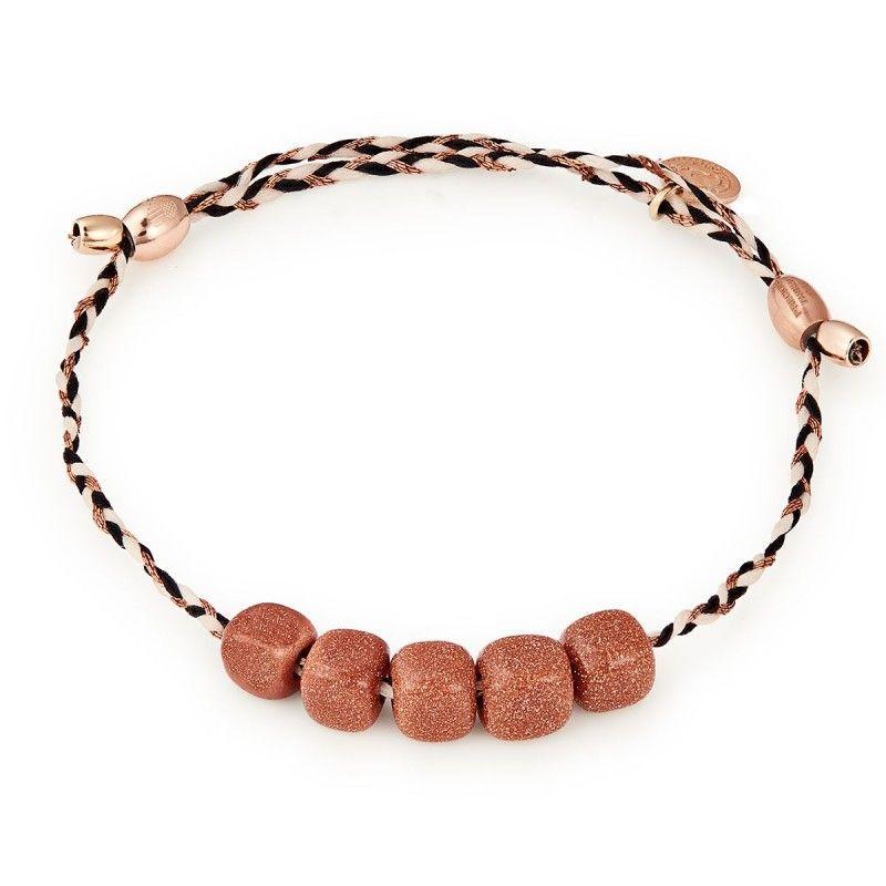 Sunstone Gemstone Precious Threads Bracelet