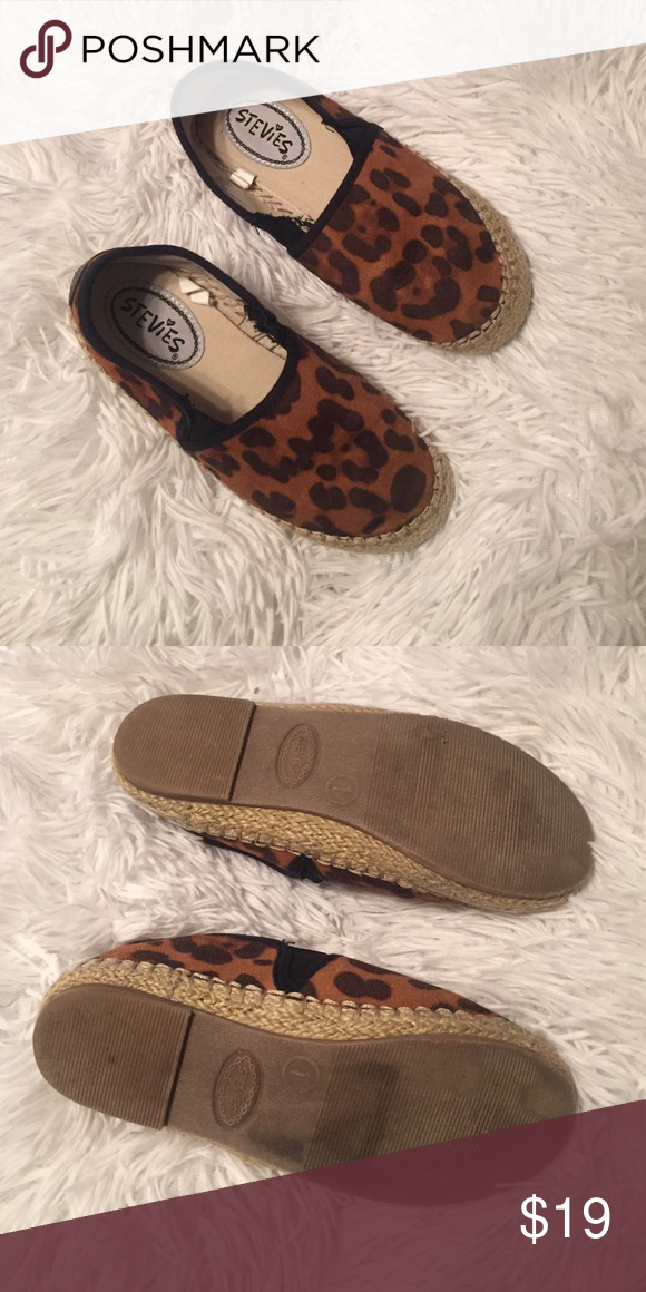 Cheetah espadrilles Very cute and chic girly espadrilles flats. Size 1 in great condition!! Shoes Slippers