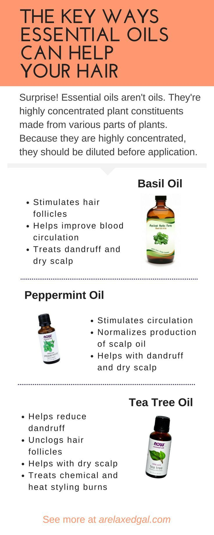 Infographic | essential oils | healthy hair care | why you should use essential oils on your hair | how to use essential oils on your hair | which essential oils are good for hair | @arelaxedgal #hairmaintenance #wavy #hair #maintenance