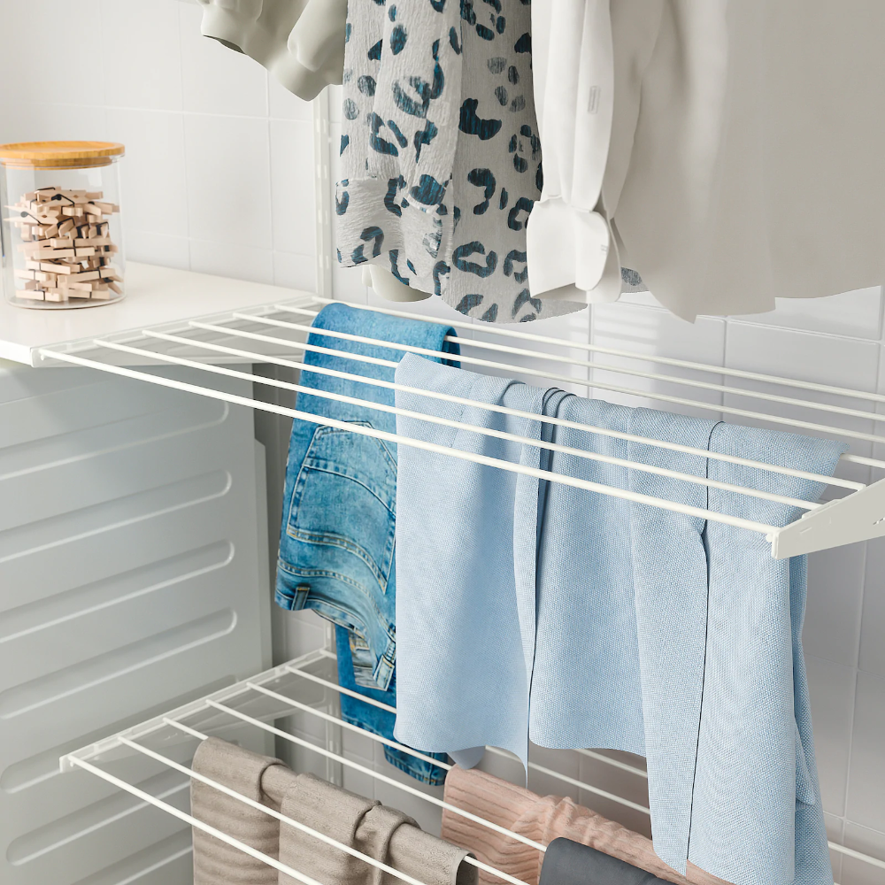 BOAXEL Séchoir, blanc, 80x40cm. (CAFR) IKEA in 2020