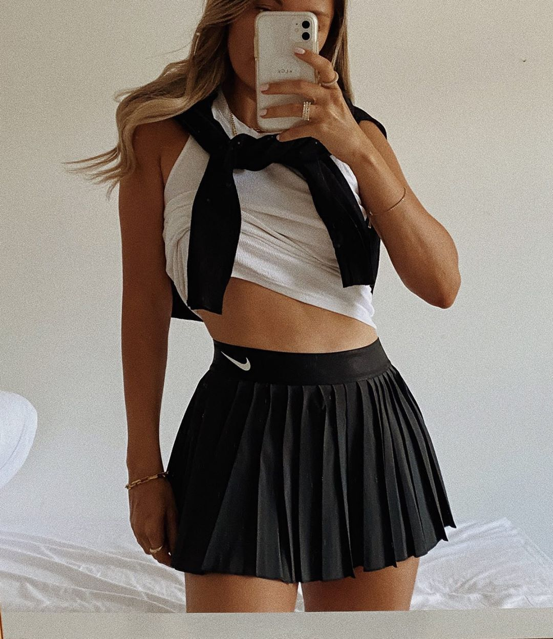 Lauren Crowe On Instagram Dark Side Niketennis Nike Sporty Sportygirl Tennis Tennislife In 2020 Fashion Inspo Outfits Tennis Skirt Outfit Trendy Outfits