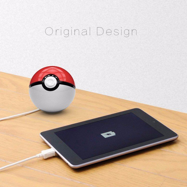 Pokemon Go Pokeball Power Bank 12000 Mah Dual Usb Led Quick Phone Charge Power Bank Pokemongo Pokemon Pokeb Cute Portable Charger Powerbank Portable Charger