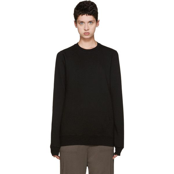 Rick Owens Drkshdw Black Cotton Pullover ($150) ❤ liked on ...